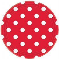 Apple Red Dots Paper Plates (8)